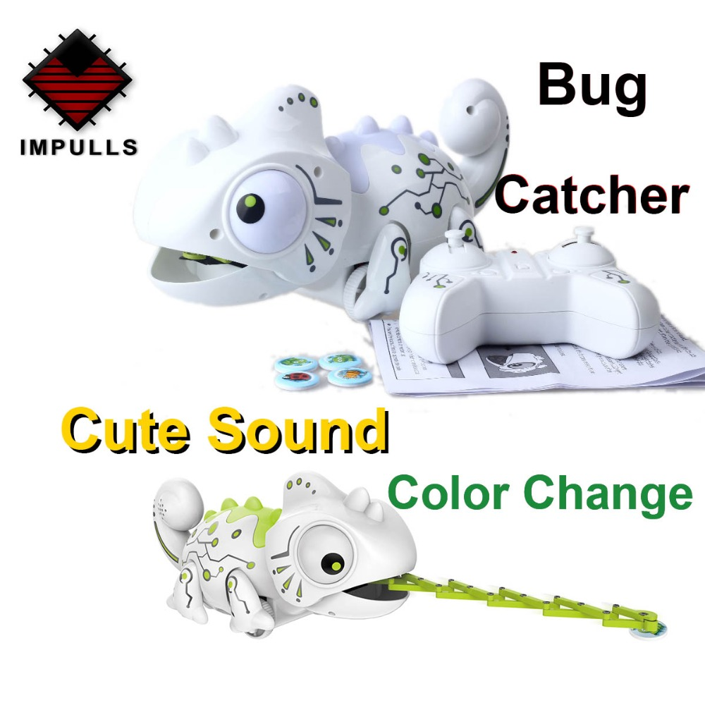 2.4CHz RC Robot Dinosaur Toys Chameleon Pet Changeable Light Remote Control Electronic Model Animal Intelligent Robot Kit Toys