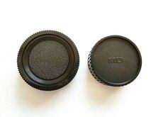 10Pair osłona obiektywu aparatu + tylna pokrywa obiektywu osłona przeciwsłoneczna Minolta MD MC lustrzanka i obiektyw