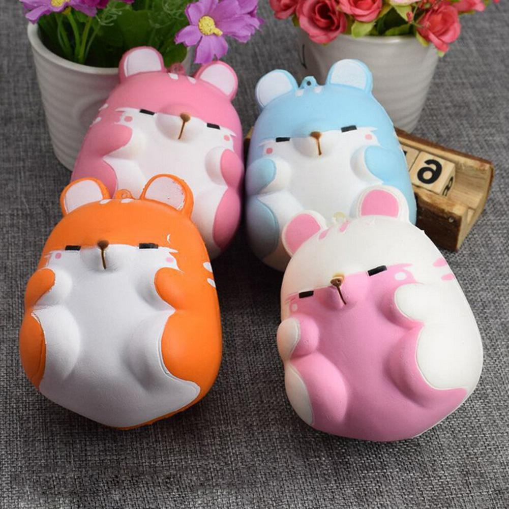 Cute Soft Squishy Colorful Simulation Hamster Toy Slow Rising for Anti Stress Puzzle Anxiety Home Decoration 4 Styles