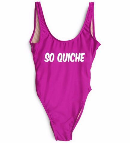 hight-Cut Low Back Swimsuit SO QUICHE One Piece Bodysuit Swimwear Summer Sexy Backless Girl Beachwear Bathing Jumpsuit  suits