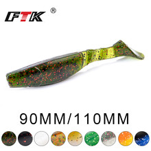 FTK Fishing Lures 90mm 7.5g 115mm 14g 6pcs Artificial Baits Wobblers Soft Shad Carp Silicone Tackle