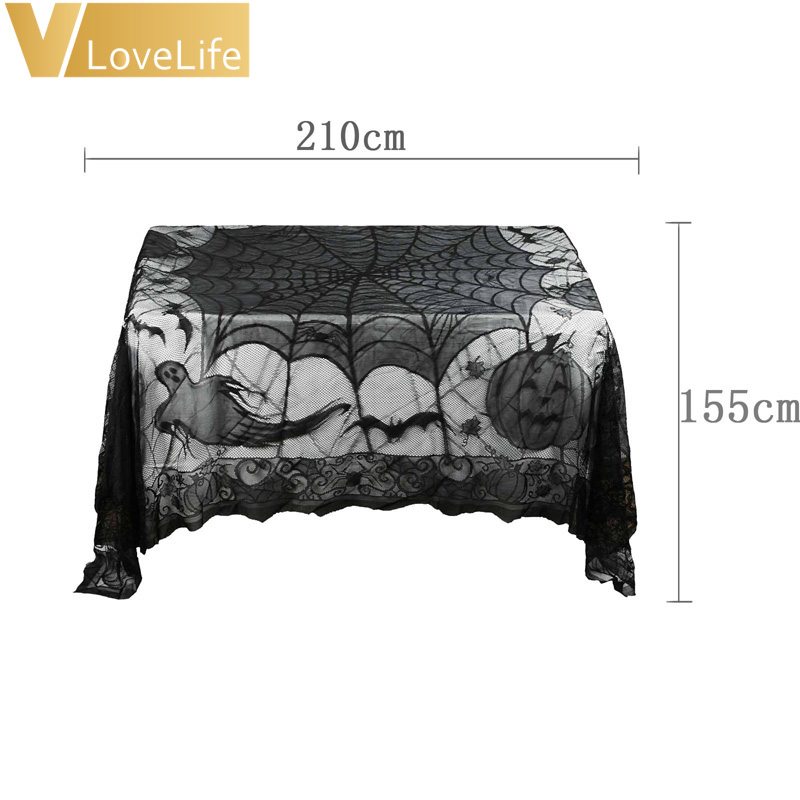 Halloween Spider Web Tablecloth 155*210cm Ghost Pumpkin Table Cover For  Halloween Decoraiton Festive Party Supplies In Party DIY Decorations From  Home ...