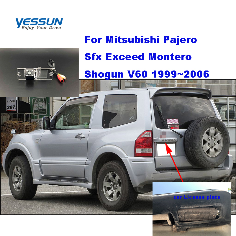 Yessun Rear-Camera Pajero Mitsubishi Parking-Assistance Car-License-Plate 2006 Exceed
