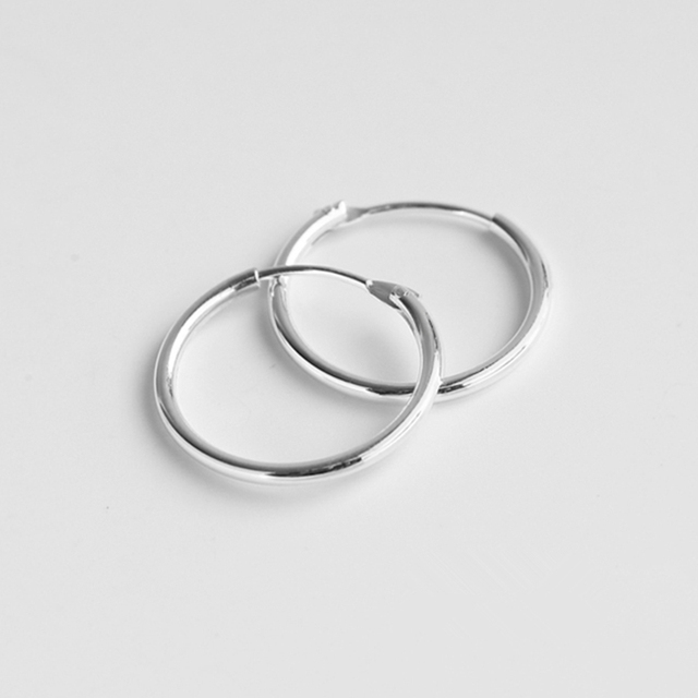 Hoop Earrings Set Real 925 Sterling Silver For Women Baby Or Men Nose Hinged