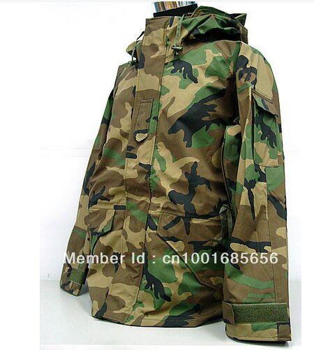 USMC Hoodie Men Winter Jacket Waterproof ECWCS Gen 1 Parka Jacket Camo Woodland