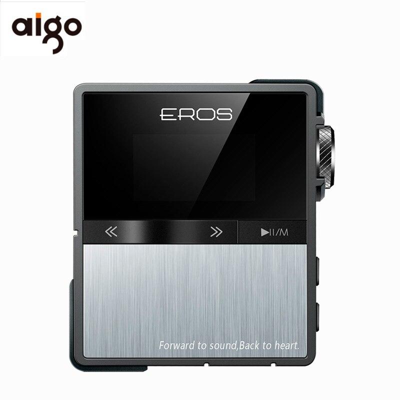 Aigo Эрос десять Mp3 профессиональный Bluetooth hifi плеер Mini USB DSD, ЦАП Портативный стерео без потерь аудио плеера Поддержка 128 ГБ