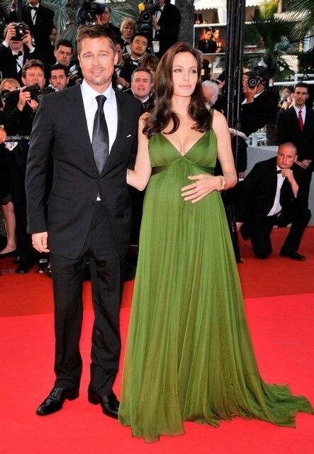 Maternity Angelina Jolie Elegant Evening Dresses for Pregnant Women ...