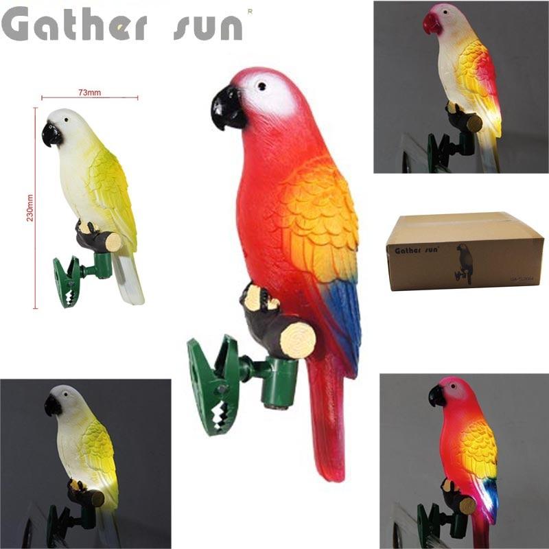 8pcs/Lot Solar Bird Light For Garden Decoration