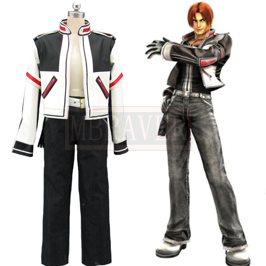 Anime Costumes The King of Fighters Kyo Kusanagi Black Suit Set Cosplay Costumes