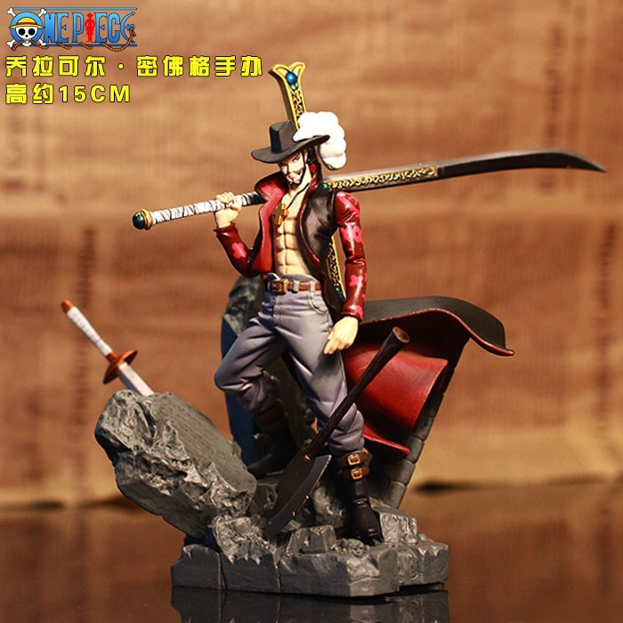 Anime One piece Dracule Mihawk PVC Action Figure Collection Toy In retail box 15cm Free shipping