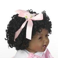 55 см ткани тела мягкие силиконовые винил Baby Doll нетоксичные игрушки ручной работы реалистичные дети играют игрушки для новорожденных кукла