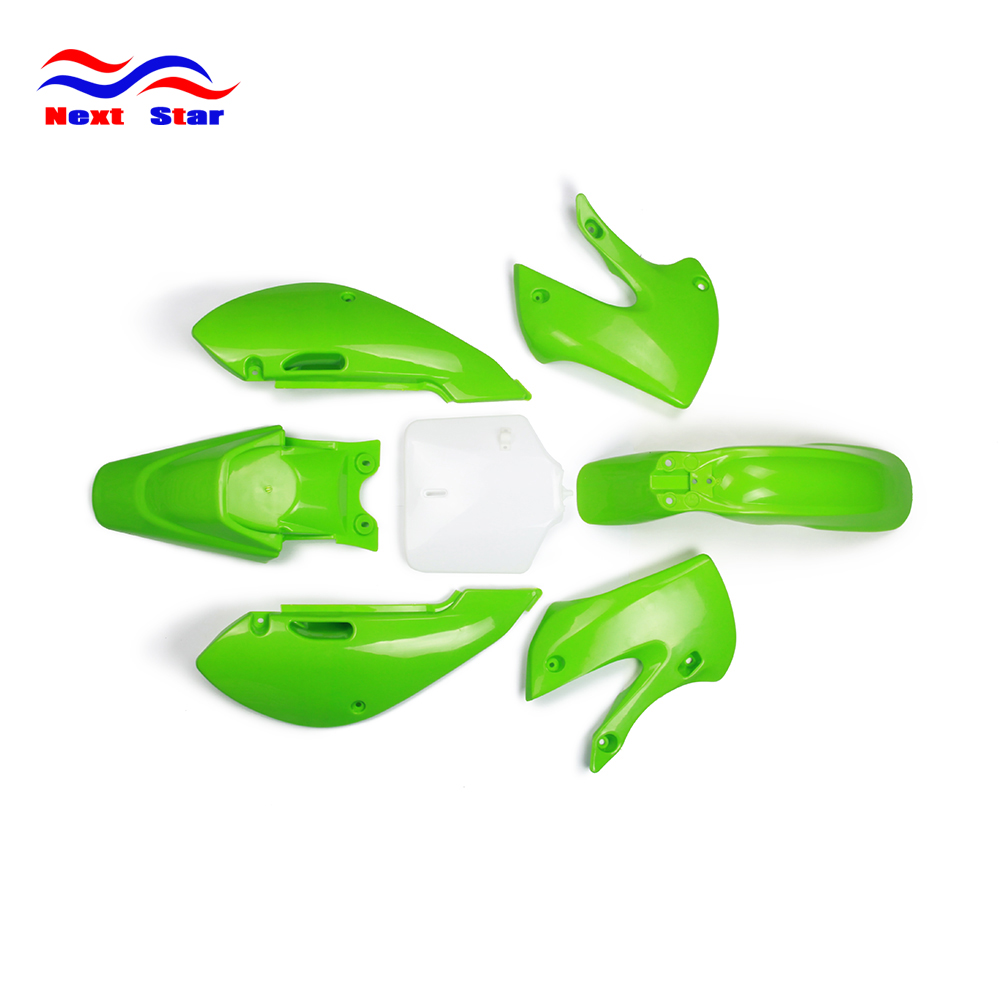 Fairing Plastic Fender Body Kit For KAWASAKI KLX110 KLX 110 2002 2013 KX65 KX 65 00 13 DRZ110 DRZ 110 2003 2004 2005 Motorcycle