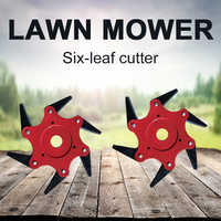 Grass Trimmer Trimmer Head Agricultural Use 6 Steel Razor Brush Cutter Head Coil Chain Outdoor Lawn Mower 65Mn Updated