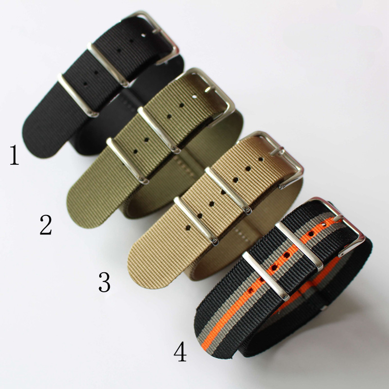 TJP 18mm 20mm 22mm 24mm Black Green New Fashion Trendy Army Military Nylon Wrist Watch Bands Strap Bracelet For DW Sport Watch tjp handmade classic 18mm 20mm 22mm 24mm brown green khaki black nato genuine crazy horse leather sport pilot watch bands strap
