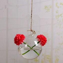 Darmowa wysyłka różnej wielkości szklane terrarium wazon średnica = 8cm 10cm 12cm 15cm szklana kula z 2 małe otwory domu dekoracyjne