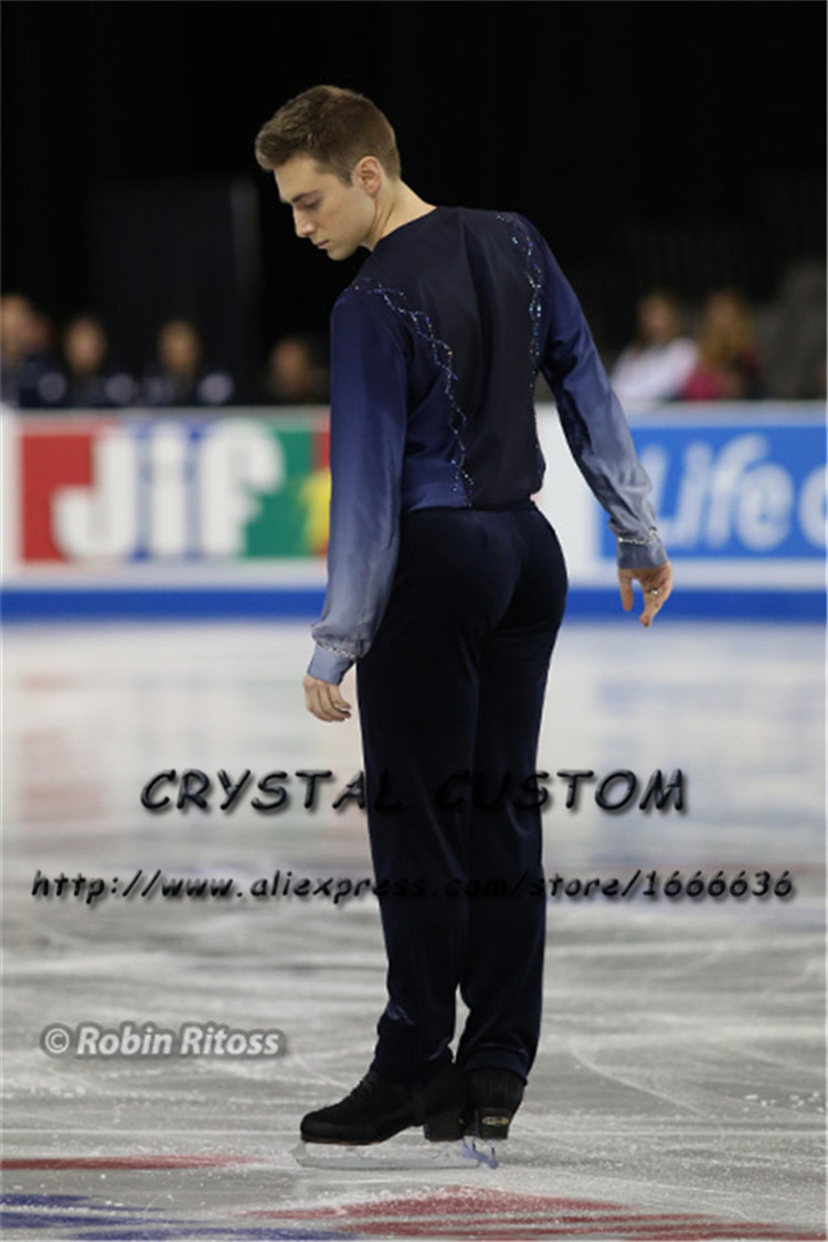 Custom Figure Skating Clothes For Men /Boys Fashion New Brand Vogue Figure Skating Competition Costume DR3128