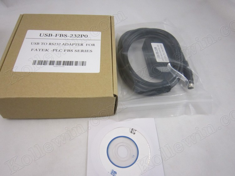 OEM USB-FBS-232P0 PLC Cable, USBFBS232P0, USB Interface Adapter to RS232 for FATEK FBS P ...
