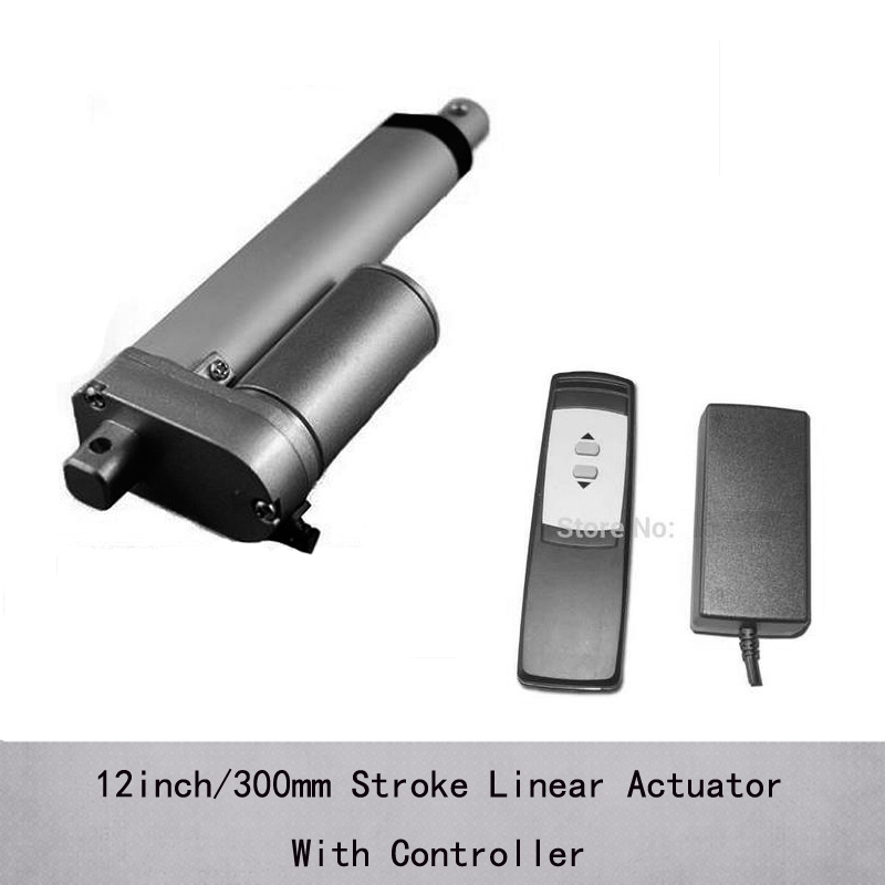 Dc Motor 1000n/100kgs Load Recliner Chair Linear Actuator With Controller Electric Linear Actuator 24v With 12inch/300mm Stroke