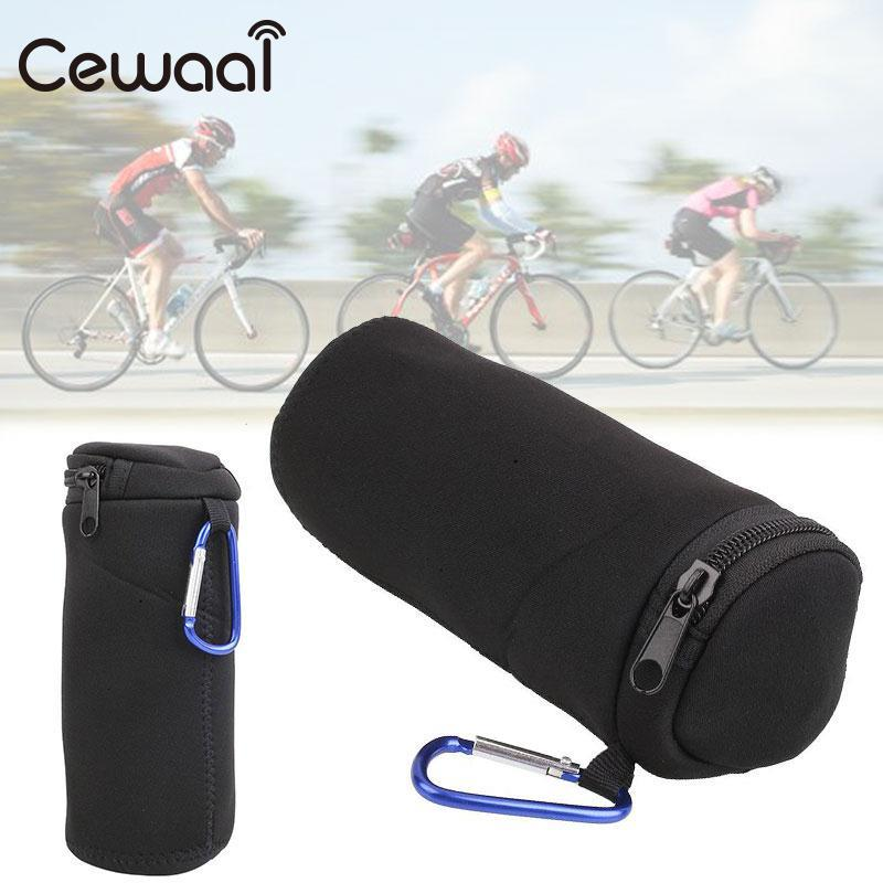 Cewaal Portable High Travel 16x6x6cm Soft Neoprene Case Cover Protective Carry Bags Tap Bluetooth Speaker Black