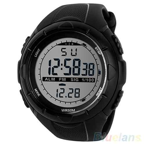 sport watch Men Waterproof 50m LED Digital Watch Electronics WristWatch Silicone Band Date Sports Wrist Watch Relojes