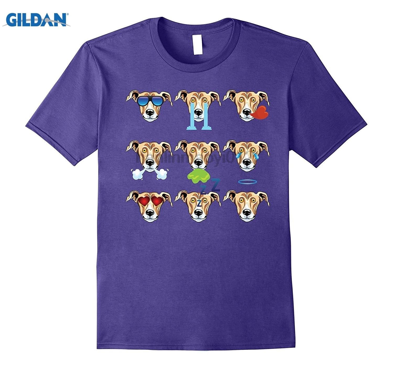 GILDAN GREYHOUND Dog Nine Emotions Face Funny T-Shirt Gift summer dress T-shirt