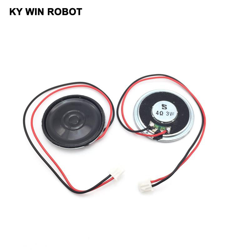 2pcs/lot New Ultra-thin Speaker 4 Ohms 3 Watt 3W 4R Speaker Diameter 40MM 4CM Thickness 5MM With PH2.54 Terminal Wire Length 20C
