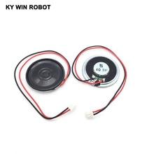 2pcs/lot New Ultra-thin speaker 4 ohms 3 watt 3W 4R Diameter 40MM 4CM thickness 5MM with PH2.54 terminal wire length 20C