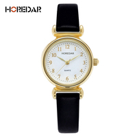 HOREDAR Elegant Small Dial Dress Watches Women Luxury Gold Case Quartz Watch Fashion Ladies Bracelet Wristwatch