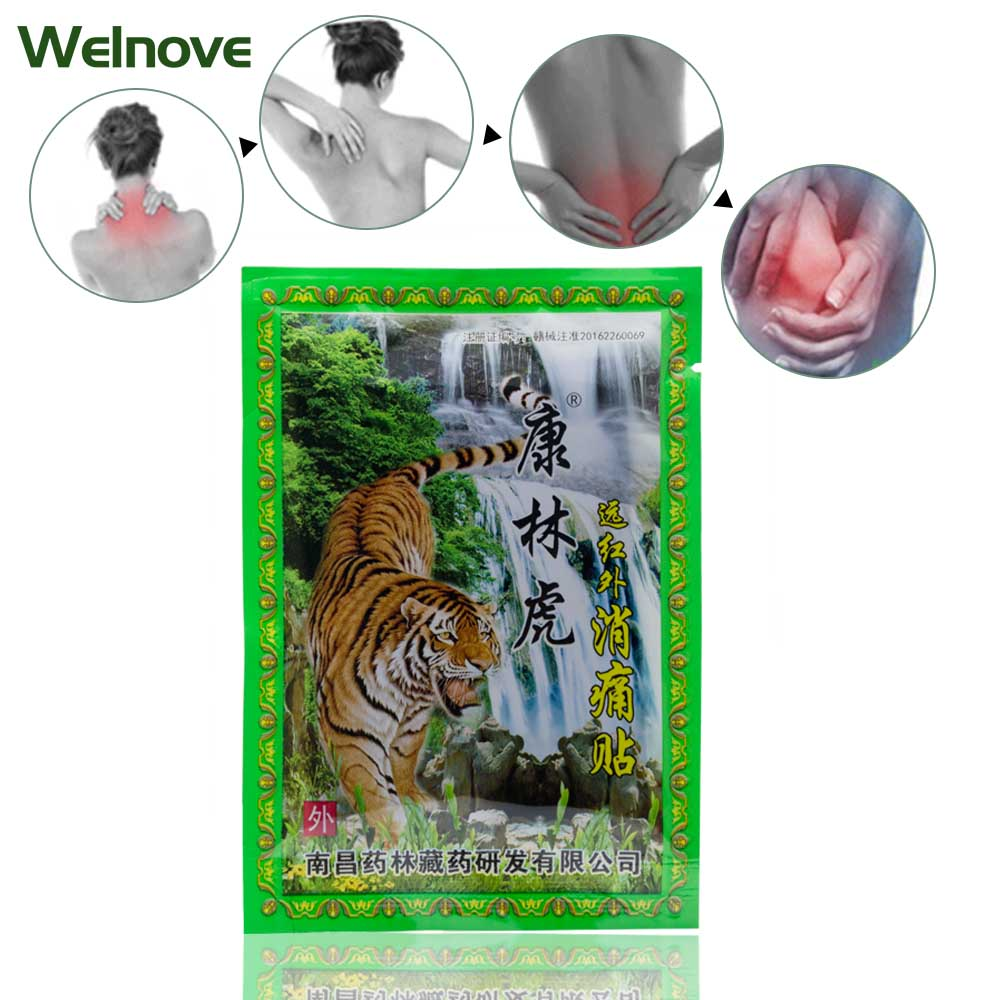 56Pcs 7Bags Neck Back Body Pain Relaxation Pain Plaster Tiger Balm Joint Pain Patch Killer Body
