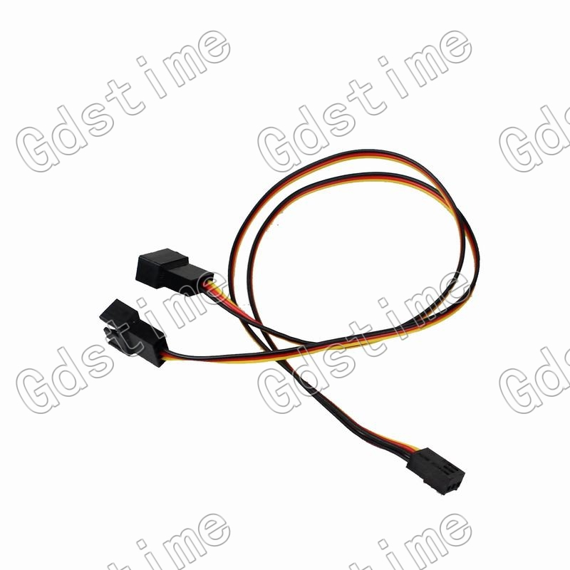 Gdstime 5 pcs 3Pin Female to dual 3Pin Male Cable Wire