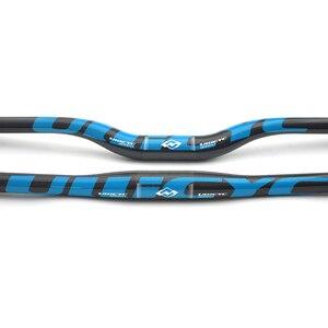 Image 3 - Ullicyc горный велосипед 3K, полностью углеродный руль, плоский/подъемный карбоновый руль для велосипеда MTB, детали 31,8*580 мм 740 мм, синий цвет, CB186