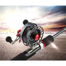 Fly Fishing Raft Wheel Micro Lead Reel Line Outdoor Angling Tool All Metal Rocker Gear For Fish