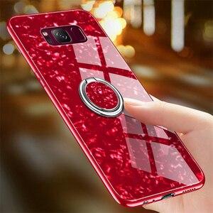 Image 2 - Für Samsung Galaxy S8 S9 S10 Plus Hinweis 8 9 Marmor Muster Gehärtetem Glas Telefon Fall Für Samsung Galaxy S10e s10 Lite Abdeckung Funda