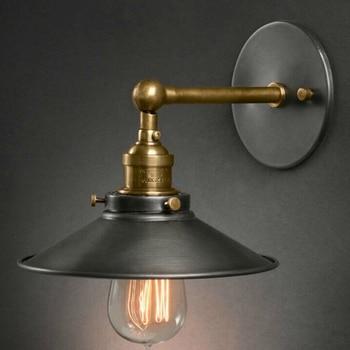 Американский стиль Антикварная прикроватная настенный светильник одинарная гостиная огни винтажная мода бар лампы