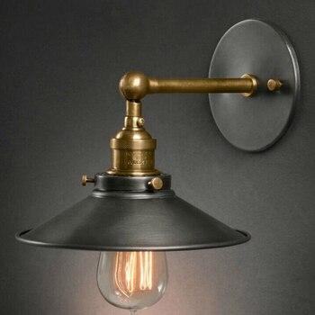 아메리칸 스타일 머리맡 골동품 벽 램프 단일 머리 거실 조명 빈티지 패션 바 램프