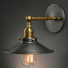 Прикроватная антикварная настенная лампа в американском стиле, Светильники для гостиной с одной головкой, винтажные модные барные лампы