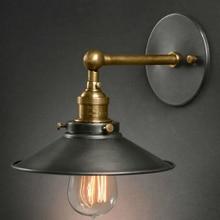Lámpara de pared de cabecera antigua de estilo americano luces de sala de estar de una sola cabeza lámparas de bar de moda vintage