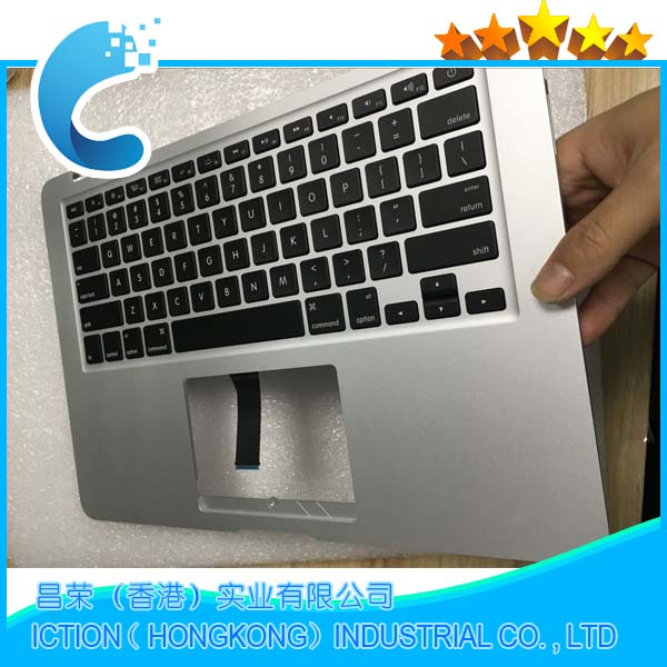 Original New For Macbook Air 13 A1369 Topcase US Layout Upper Top Case with Keyboard Mid 2011 MC965 MC966 661-6059 original new topcase 11 6 for macbook air a1370 a1465 palmrest top case with us keyboard backlight no touchpad 2013 2015