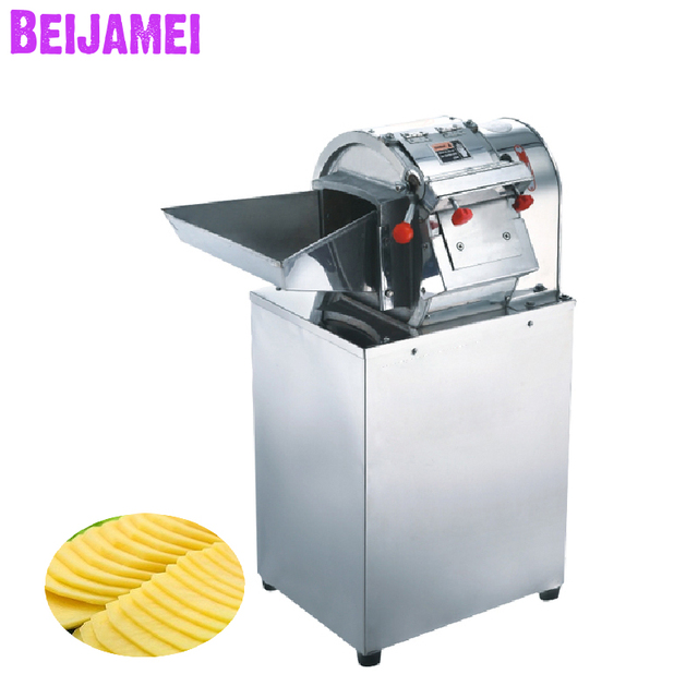 Beijamei New vegetable cutting machine commercial potatoes slicer cutter/ industrial potato chip slicing machines