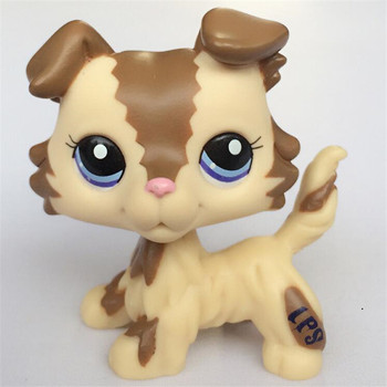 New Lps Pet Toys Shop Free Shipping yellow Shorthair Cat Dog Dachshund Great Dane Collie 41 Action figure Boy Gift new pet genuine original lps no deep brown white collie dog toys