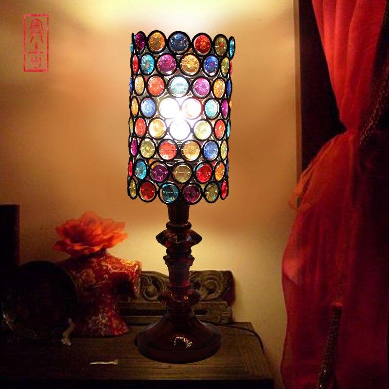 European noble American beaded lamp living room lamp bedroom bedside lamp wedding gift childrens room A-9