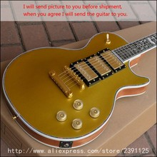 New Brand Custom Shop LP Custom Gold Figured Tree of Life 3 pickups guitar high quality chinese electric guitar free shipping