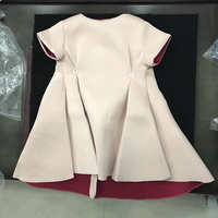 Girls Pink&Red Solid Dress For Girls With Brown Bowknot Formal Dresses Party Princess Dress Costume for Children Girls Clothing