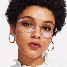 KRMDING 2019 Retro Cat Eye Plane Female Cateyes Sunglasses Fashion Lightweight Eyewear Women Metal Glasses D091