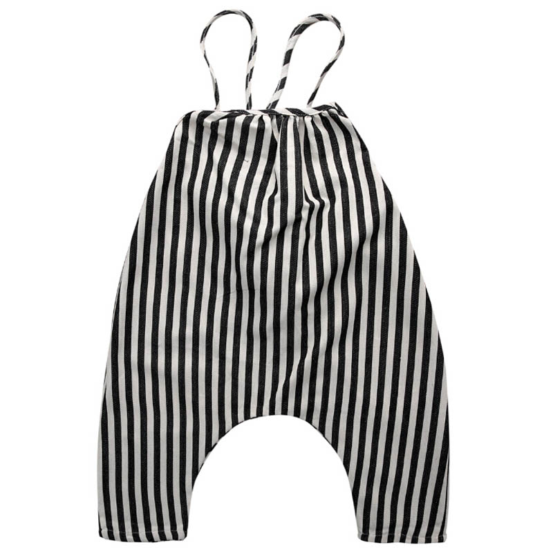 New Casual Newborn Baby Kids Girls Clothes Sleeveless Striped   Romper   Jumpsuit Cotton Summer Clothes