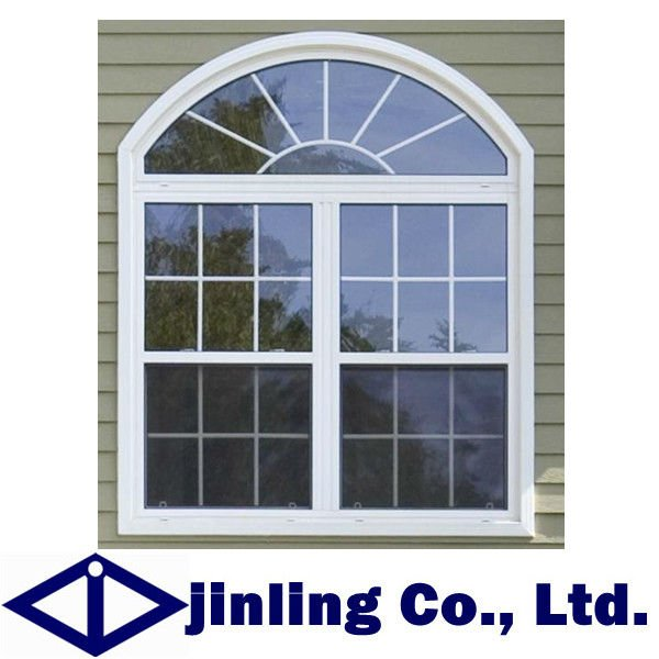 pvc arch top window grill design