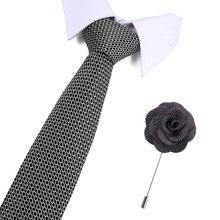 Tie&Pin Set Neck Ties Print Silk Tie Gravata Fashion Single for Mens 2019 Dot Men Wedding Business Suits