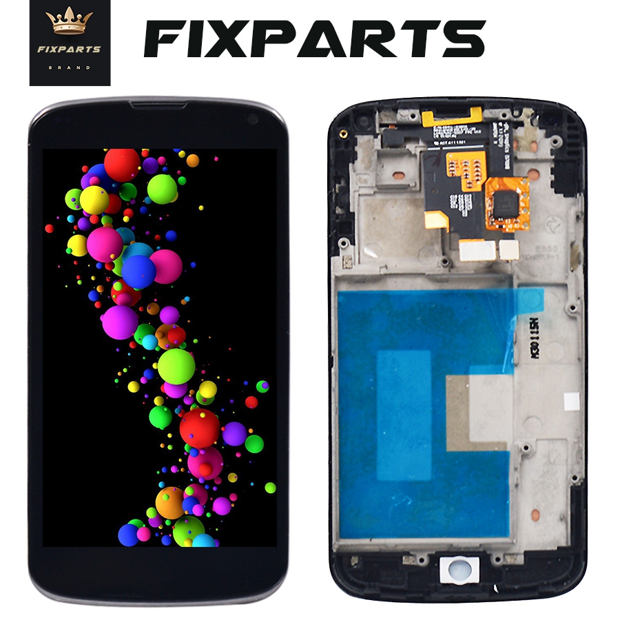 Black For 4.7LG E960 Google Nexus 4 E960 LCD Touch Screen with Digitizer Assembly With Frame Free Shipping for lg e960 lcdBlack For 4.7LG E960 Google Nexus 4 E960 LCD Touch Screen with Digitizer Assembly With Frame Free Shipping for lg e960 lcd