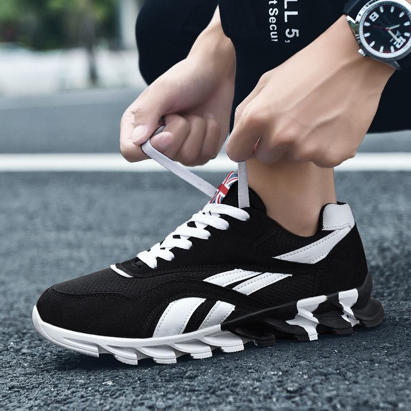 Outdoor Men Sneakers High Quality Lightweight Running Shoes Breathable Fashion Black Sport and lifestyle Shoes JINBEILE in Running Shoes from Sports Entertainment