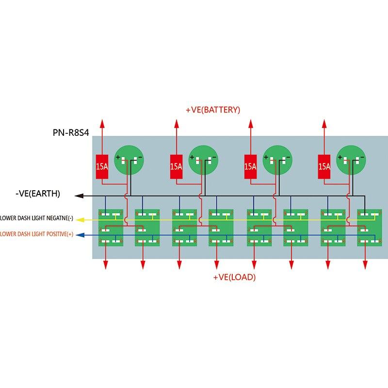 Aliexpress.com : Buy Mayitr 8 Gang LED Car Rocker Switch Panel Dual ...